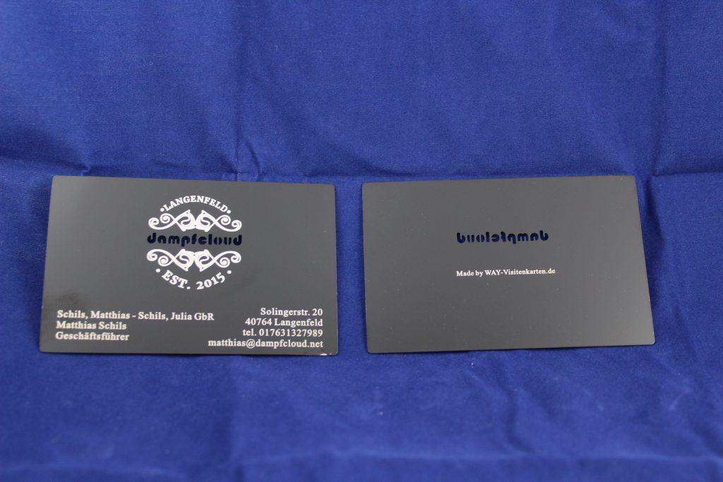 Schwarze Metall Visitenkarte